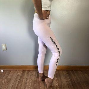 American Apparel Pink Leggings Medium